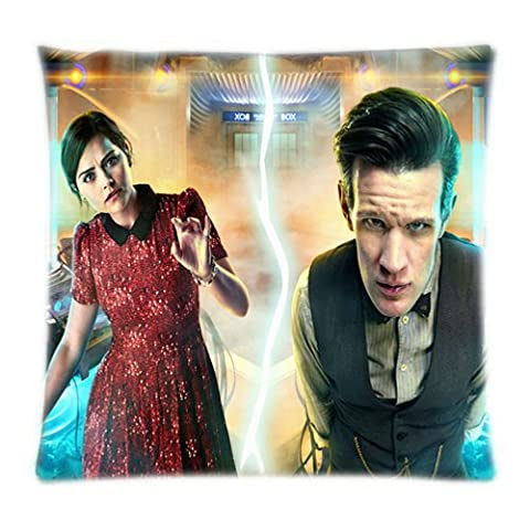UK-Jewelry Customized Doctor Who Tardis British Police Box Square Zippered Soft Standard Durable Throw Pillowcase 18x18 Inch