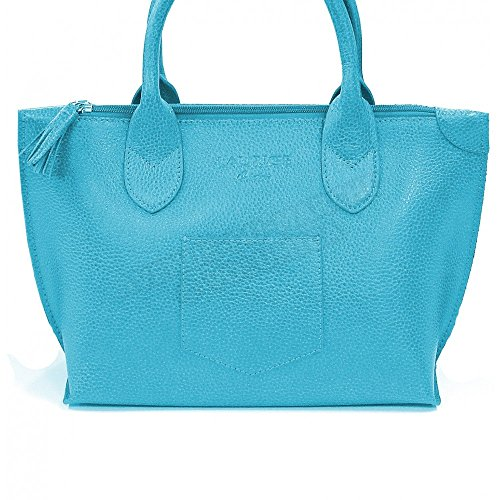 Sac à main Marie cuir Fabrication Luxe Française Bleu Turquoise