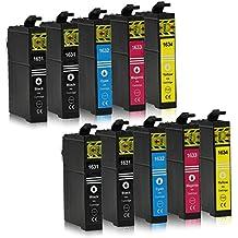 10 Cartuchos de tinta compatible con Epson 16-XL / T1626 / T1636 para Epson WorkForce WF-2010 WF-2500 WF-2510 WF-2520 WF-2530 WF-2540 WF-2630 WF-2650 WF-2660 WF-2700 WF-2750 WF-2760