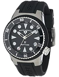 Swiss Legend Mujer 11840D-01 Neptune Black Dial Black Silicone Reloj