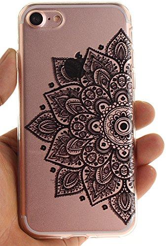 Nnopbeclik [Coque Iphone 7 Silicone ]Transparente élégant Style de Impression Couleur Motif Doux Backcover Case Housse pour Iphone 7 Coque Apple (4.7 Pouce) Protection Antiglisse Anti-Scratch Etui - [ dentelle7
