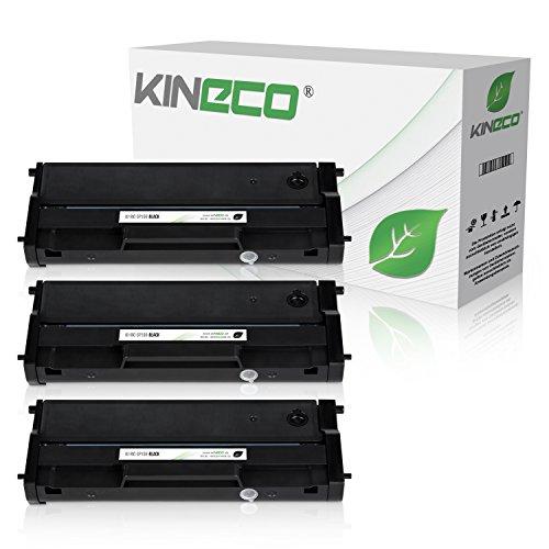Preisvergleich Produktbild Kineco 3 Toner kompatibel zu Ricoh SP 150 Type-150 HC für Ricoh SP 150suw, SP 150w, SP 150su, SP 150 - Schwarz je 1.500 Seiten