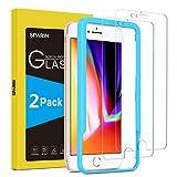SPARIN [2-Pack Protector Pantalla iPhone 6/6s/7/8, Cristal Templado iPhone 6/6s/7/8, Vidrio Templado con [2.5d Borde Redondo] [9H Dureza] [Alta Definicion] para iPhone 6/6s/7/8