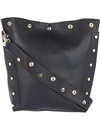 Fur Jaden Quirky Black Bucket Tote Bag For Women