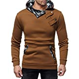 XFentech Männer Sweatshirt - Mode Winter Camouflage Hut Revers Jacke Slim Fit Sweatshirt.