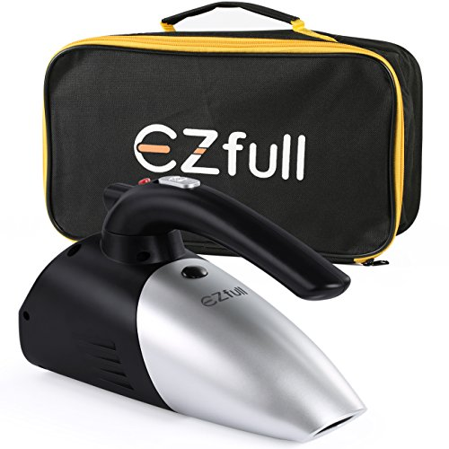 EZfull-Auto-Aspirapolvere-Vuoto-Tenuto-in-Mano-Portatile-Detergenti-Aspiratori-12V-4-in-1-Asciutto-Bagnato-Tenuto-in-Mano-Auto-Hoover-5-Metri-Lunghi-Cavo-di-Alimentazione-Torcia-a-LED-e-Funzione-di-Go