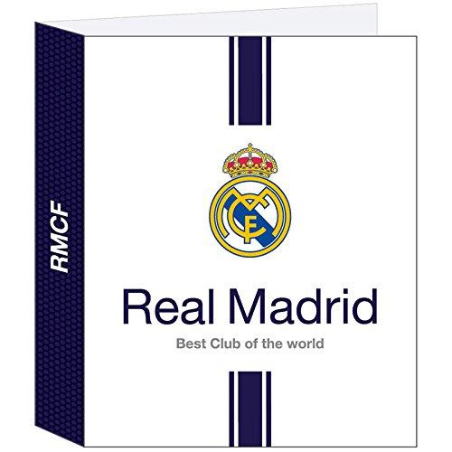 Real Madrid - Carpeta folio con 4 anillas y lomo anch (Safta 511654657)