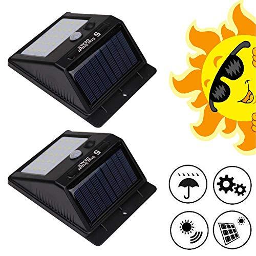 ZGYQGOO 2 LED Solar Light Super Bright Garden mit Bewegungssensor Sicherheit Wandleuchte Wandleuchte 3 Modi 1000 Mah Abs Umweltfreundlich Wasserdicht IP65 Solarleuchten