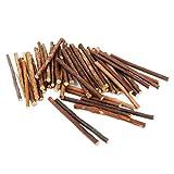 Tinksky Mestiere di legno bastoni per bricolage fai da te foto puntelli, 0,5-0,8 CM di diametro, 10 CM confezione da 100 (colore di legno)