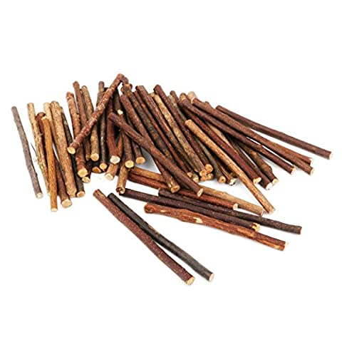 PIXNOR 100pcs Wooden Craft Sticks 10CM Long 0.5-0.8CM Diameter