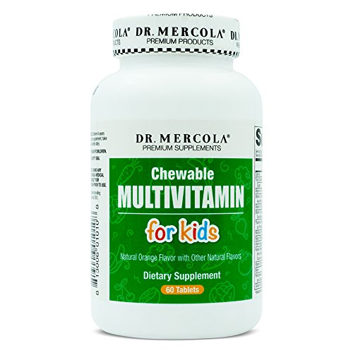 Dr. Mercola, Multivitamines, comprimés à croquer pour enfants, 60 comprimés