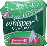 Whisper 2x Ultra Clean XL Flügel Sanitär Pad (15Stück)