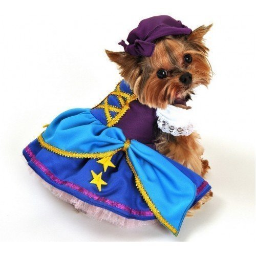 Mädchen Animal Haustier Hund Katze Gypsy Piraten-Party Halloween Kostüm Kleid Outfit XS-XL - Large