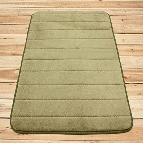 Ology(R)- 50x80cm Micro Suede morbido tappeto bagno schiuma di memoria