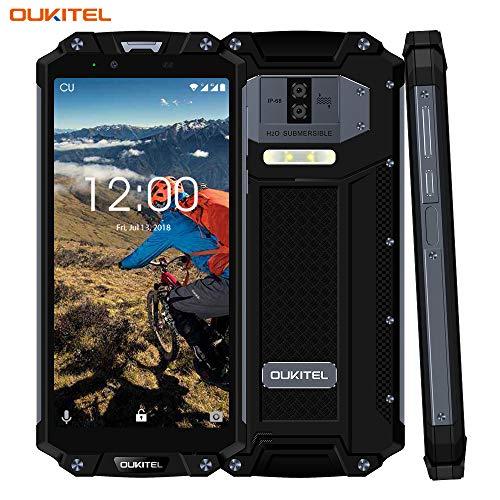 OUKITEL WP2, Outdoor Handy 10000mAh Robustes Smartphone entriegelt IP68 wasserdicht Stoßfest Staubdicht 4 GB + 64 GB 10000 mAh Akku 8,0 Zoll Android Dual SIM 16MP+2MP+8MP