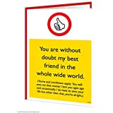 Best Friend Ever Greeting Card by Brainbox Candy