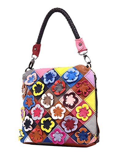Yan Show, Borsa a tracolla donna nero Whie and Black Multicolor