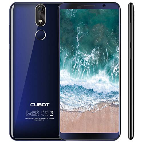 Cubot Power 4G-LTE Dual SIM Smartphone ohne Vertrag, 5.99 Zoll (18: 9) FHD+ Touch Display mit 6000 mAh Akku, 6GB Ram+128GB Rom, 20MP Hauptkamera / 13MP Frontkamera, Android 8.1 2.5GHz Octa-Core,Blau