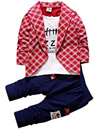 Si Noir Boys and Girls Red Text Print Full Sleeves Jacket Style T-Shirt and Pant Set-