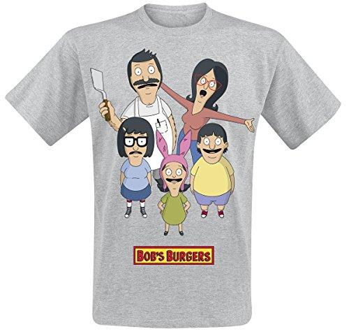 Bob's Burgers Group Shot T-Shirt grigio sport XL