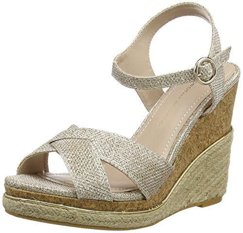 Dorothy Perkins - Roxy Wedge, Scarpe spuntate Donna Gold (Metallic)