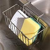 Küchen Schwammhalter, Spüle Caddie Veranstalter Rostfreier Stahl Inhaber Geschirrspülen Abtropfgestell für Flüssigkeiten Lagerung für Flasche Bürste von THETIS Homes