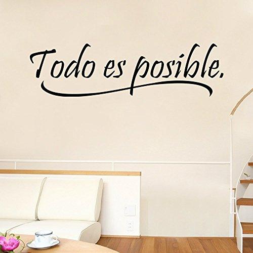 Lifeup disegn originale adesivo murale frase spagnolo soggiorno camera da letto todo es - Camera da letto in spagnolo ...