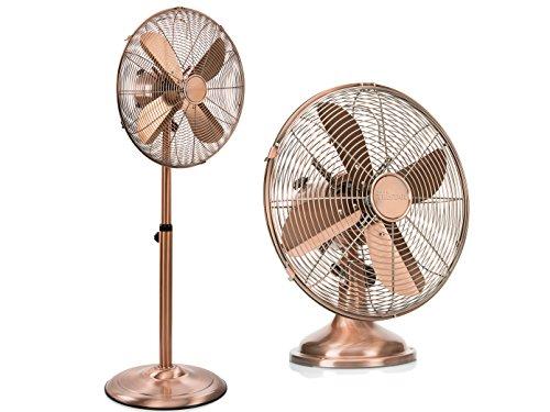 Tristar Set–Ventilador de mesa y ventilador de pie de color cobre 3niveles de potencia; VE de 5971VE 5970