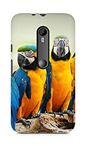 Amez designer printed 3d premium high quality back case cover for Moto G Turbo Edition (Mocking bird animal nature)