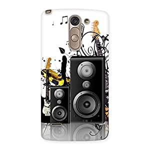 Stylish Music Comp Multicolor Back Case Cover for LG G3 Stylus