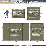Aqua Quest Safari Tarp - 100% wasserdichtes, leichtes SilNylon Bushcraft Camping Obdach - 3x3 m Olivgrün