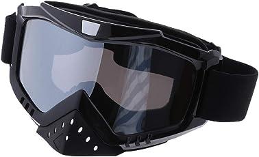 Baoblaze 1 Paar Motorradbrille Windschutz Staubschutzbrillen für Brillenträger Outdoor Aktivitäten Skifahren Radfahren Snowboard Wandern Augenschutz