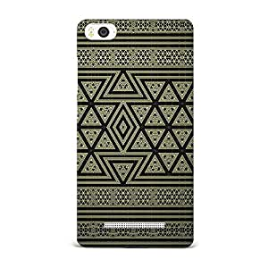 Xiaomi Mi4i Case, Xiaomi Mi4i Hard Protective SLIM Cover [Shock Resistant Hard Back Cover Case] for Xiaomi Mi4i -Geometric Bronze Pattern