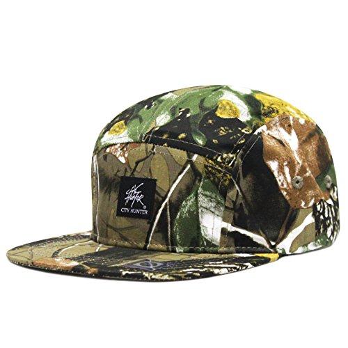 City Hunter Cn580 Camouflage All Over 5 Panel Biker Hat (Autumn Camo) -