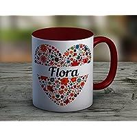 Mug Coeur rouge à personnaliser - tasse à café - cadeau personnalisé - prénom - cadeau anniversaire - cadeau de noël - mug à thé