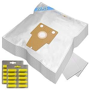 SUPER SET - 20 Sacs Aspirateur (Microfibre) + 20 Parfums + 2 Filtres Pour VS08G2212/07 SIEMENS 2200W Dynapower