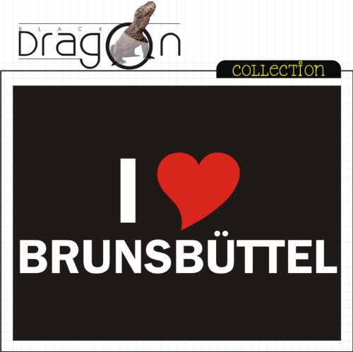 T-Shirt mit Städtenamen - i Love Brunsbüttel - Herren - unisex Schwarz