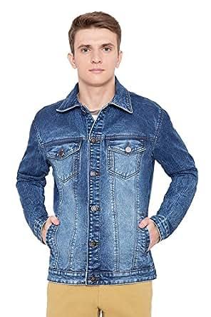 Krossstitch Full Sleeve Men's Denim Jacket with Brass Button(Size Medium)