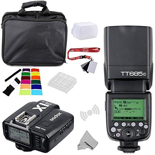 Fomito Godox TT685C E-TTL II 2.4GHz Wireless Master /Esterno Flash automatico Speedlite &X1-C Trasmettitore Grilletto HSS Per Canon EOS 750D 760D 1200D 100D 6D 70D 7D 5DIII 5DS 1DX fotocamere,580EXII