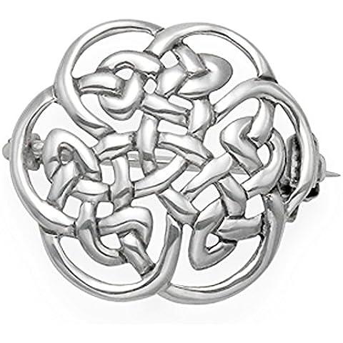 Confezione regalo-Spilla in argento Sterling, stile celtico, misura: 20 mm, peso: 3gms 9018