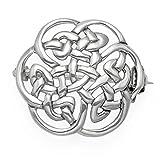 Broche celtique ronde en argent sterling-Dimensions: 20mm. Poids: 3g. Broche celtique en argent présentée dans un coffret cadeau-9018/HN