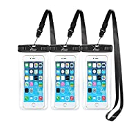 AiRunTech Waterproof Case(3-Pack), Waterproof Cell Phone Dry Bag for iPhone Xs/XS Max/XR/X, iPhone 8/8 Plus/7/7 Plus/6/6s, Samsung Galaxy S9/S8/S7 Google Pixel and All Devices Up to 6.6 Inches