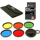 Ex-Pro 77mm Colour Filter Set 5 Kit de pièces avec étui et Lens Cap