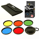 Ex-Pro 58mm Set di 5filtri colore kit con custodia e copriobiettivo