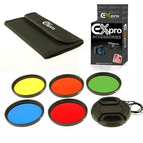 Ex-Pro 62mm Colour Filter Set 5 Kit de pièces avec étui et Lens Cap