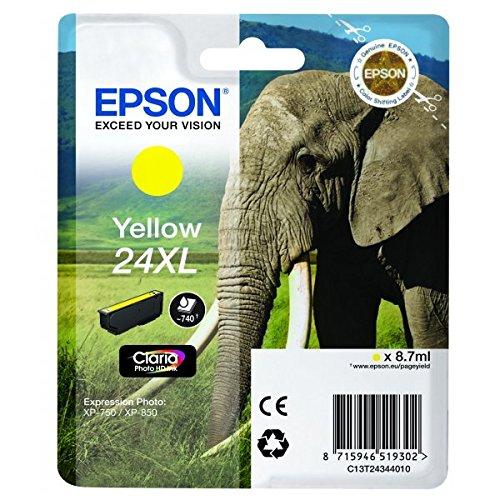 Epson T2434 Tintenpatrone Elefant XL, Singlepack gelb (Epson 24-drucker)