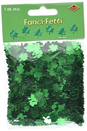 fanci-fetti Kleeblättern (grün) Party Zubehör (1Zählen) (1Oz/Pkg)