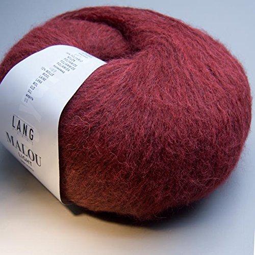 Lang Yarns Malou Light 062 crimson 50g Wolle