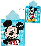 Unbekannt Badeponcho -  Disney Mickey Mouse  - incl. Name - 50 cm * 115 cm - 4 bis 8 Jahre Poncho - mit Kapuze - Handtuch Strandtuch Baumwolle - Jungen Maus / Playhou..