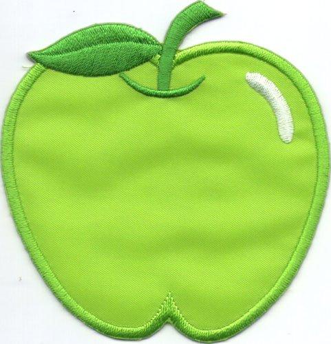 "Aufnäher / Iron on Patch "" grüner Apfel """